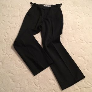 Beautifully tailored high-waisted black pants